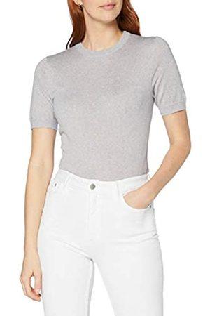 MERAKI Damen Pullover aus Merinowolle mit rundem Ausschnitt, (Light Grey Marl), 40
