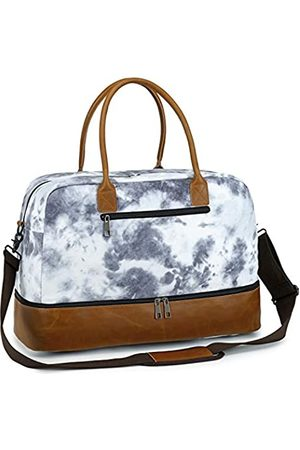 CAMTOP Weekender Travel Bag for Women Mens Overnight Carry-on Tote Bags with Shoe Compartment (Tie Dye)