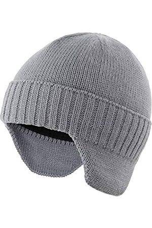 Ambientehome Home Prefer Herren Wintermütze Strickmütze mit Ohrenklappen und Ohrenklappen - Grau - large