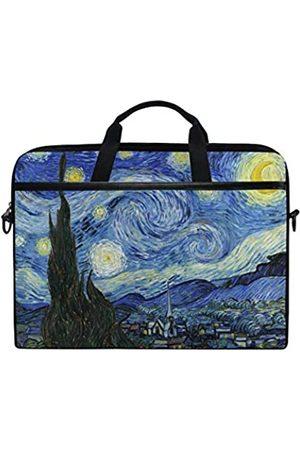 JOYPRINT Laptop-Schutzhülle, Van Gogh Sternennacht, 35,6–36,8 cm, Aktentasche, Messenger Notebook, Computertasche, mit Schultergurt, Griff für Männer, Frauen, Jungen