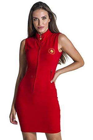 Gianni Kavanagh Damen Red Nautical Winners Zip Dress Lässiges Kleid