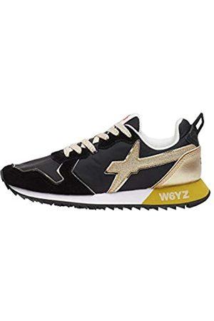 W6YZ Jet-W.-Sneaker aus Funktionsgewebe und Veloursleder-Schwarz-Platin 38