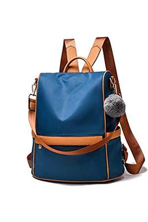 Cheruty Women Backpack Purse Nylon Anti-theft Fashion Casual Lightweight Travel School Shoulder Bag(Blue Large1)