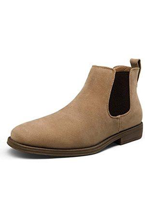 JOUSEN Herren Chelsea Boots Casual Wildleder Elastische Stiefeletten Einfacher Stil Kleid Stiefel für Männer, (Herren Chelsea Boots-amy658a-pilz)