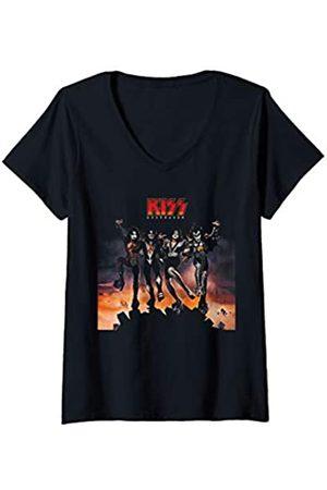 Kiss Damen - 1976 Destroyer T-Shirt mit V-Ausschnitt