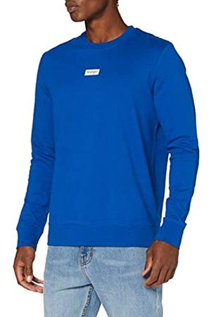 Wrangler Herren Logo Crew Sweatshirt, Blue X05