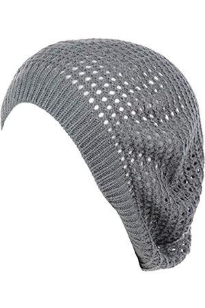 Be Your Own Style BYOS Damen Baskenmütze mit Aussparungen, offenes Netz, leicht, lässig, gehäkelt