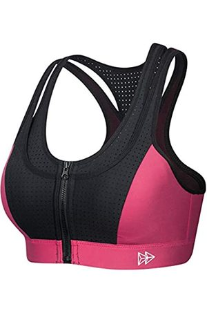 Yvette Ries High Impact Sport-BHs für Frauen Frontverschluss Sport-BH Workout BH mit Belüftung Racerback für Übergrößen - - M