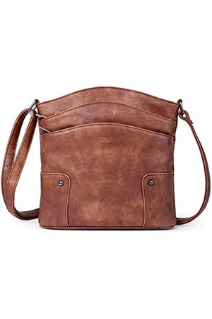 CLUCI Muttertagsgeschenke Crossbody Taschen für Frauen Kleine Leder Geldbörse Reise Damen Designer Vintage Handtaschen Schultertaschen, (Zweifarbiges )