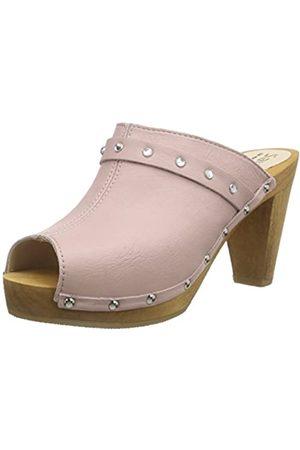 Sanita Damen Polly Plateau Sandal Clogs, Pink (Nude 33)