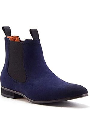 Jazamé Chuck Herren B-2963 Chuck Nubuk Wildleder Pull On Round Toe Chelsea Boots, ( hoch)