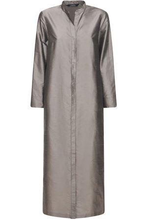 Max Mara Langes Kleid Aus Seidenshantung
