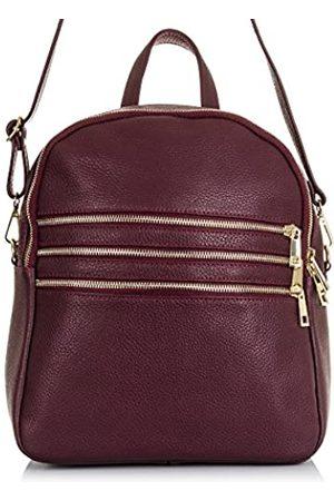 Firenze Artegiani Ledertasche Rucksackhandtaschen Made IN Italy. AUTHENTISCHE ITALIENISCHE Haut 26x30x15 cm. Farbe: Lila