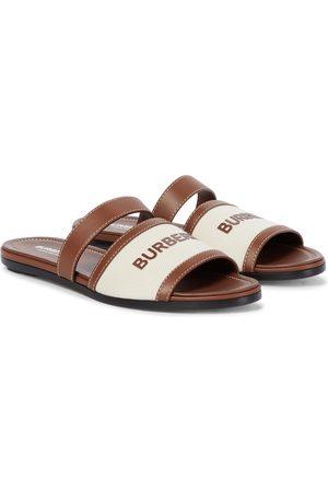 Burberry Sandalen mit Lederbesatz