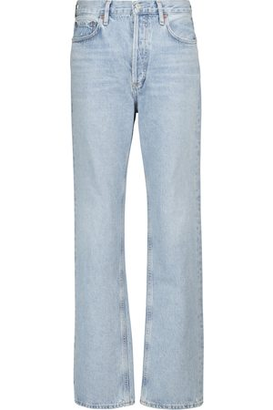 AGOLDE Mid-Rise Straight Jeans Lana