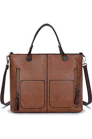 FADPRO Damen-Handtaschen mit Tragegriff und klassischer Schultertasche, für Büro, Aktentasche, Kuriertasche