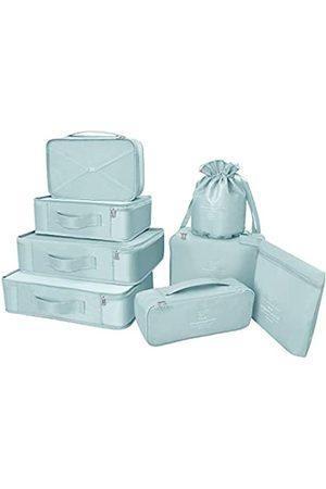 BETLLEMORY Packwürfel, 8 Sets/7 Farben, Reise-Gepäck-Organizer, inklusive wasserdichter Schuh-Aufbewahrungstasche
