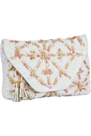 Antik Batik CROCHET1WAL, Damen Clutches, (White)