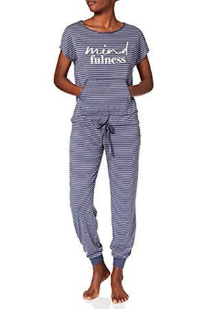 Women secret Damen Pijama Largo Manga Corta Rayas Zweiteiliger Schlafanzug