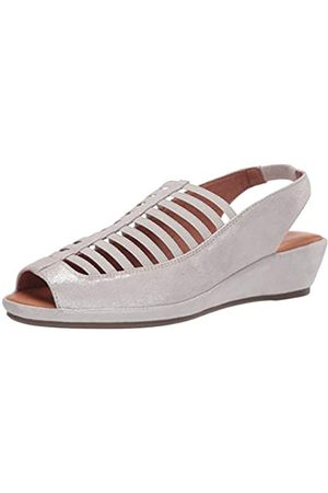 Gentle Souls Damen-Slingback-Sandale mit Keilabsatz