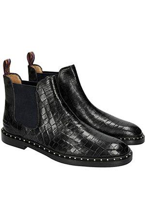 Melvin & Hamilton Damen Susan 10 A Chelsea Boots, (Crock/Black/Loop Peru/Ela Navy/HRS + Welt Rivets)