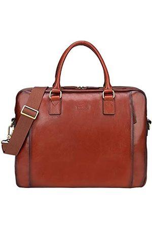 Banuce Aktentasche aus italienischem Leder für Damen, Handtaschen, 14 Laptop-Tragetaschen, Business-Tasche, Kuriertasche