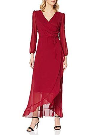 Mela Damen London-Dipped Hem WRAP Effect Maxi Dress Lässiges Kleid