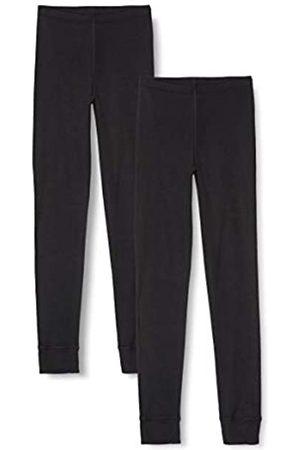IRIS & LILLY Amazon-Marke: Damen Lange Thermo-Unterhose 2er Pack (Black), XS
