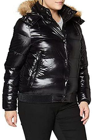 Superdry Womens HIGH Shine Toya Bomber Jacket, Black