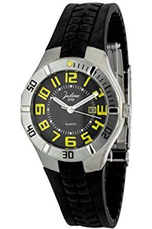 JUSTINA Analog Quarz Uhr mit Gummi Armband JPC35