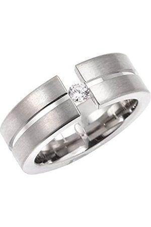 Renato Fellini Damen-Ring Titan Zirkonia weiß Brillantschliff Gr. 50 (15.9) - HEJTR0314 16