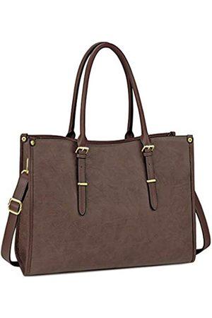 NUBILY Laptoptasche für Damen, 39,6 cm (15,6 Zoll), wasserdicht, leicht, Leder, für professionelle Arbeit, Arbeit, Aktentasche, große Computer-Tasche, Schultertasche
