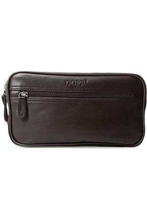 Dopp Herren Reisetasche aus Leder mit Mehreren Reißverschlüssen - - Einheitsgröße