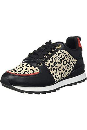 Maria Mare Damen Nara Sneaker, Brina Negro/Leonious Camel/Soft Rojo/Reptil 2 Negro