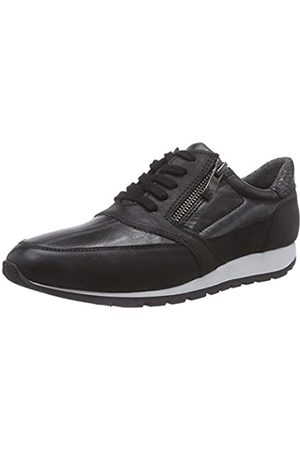 Caprice Damen 23651 Sneaker, (BLK NUB/SILVER 096)