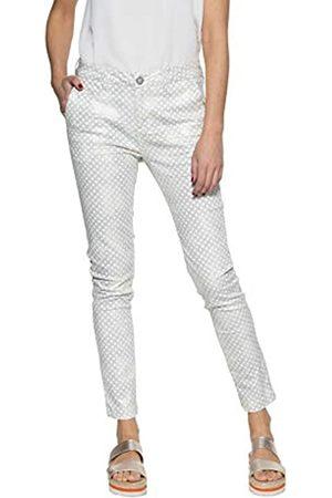 ATT Damen 5 Pocket | Damenhose | Slim Fit | Muster | Glitzer Effekt Ruby