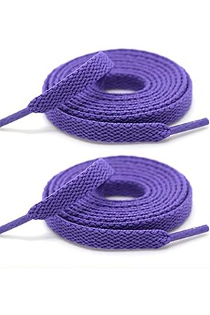 XINIFOOT [2 Pairs] Colored Flat Shoelaces Shoe Laces Strings for Sports Shoes Boots Sneakers Skates -Purple