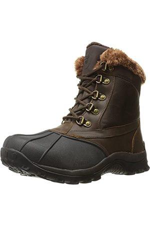 Propet Propet Women's Blizzard Mid Lace Ii Winter Boot, Brown/Nylon