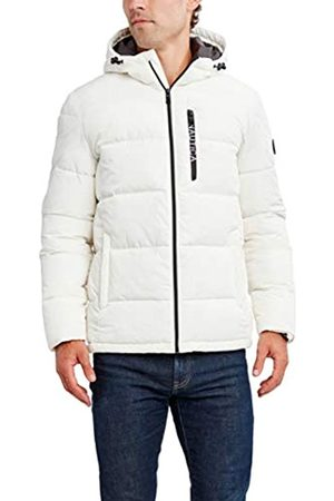 Nautica Herren Water Resistant Hooded Parka Jacket Daunenalternative, Mantel