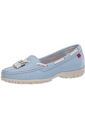 Marc Joseph New York Damen Leder Made in Brazil Spring Street Golf Schuh, (Baby Blue Trommelkörnchen)