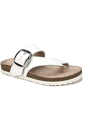 White Mountain Damen Harley White Size 6 Flache Sandale