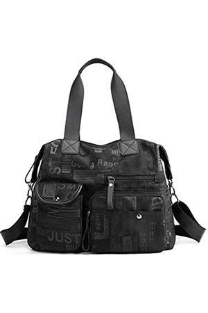 DOURR Große Crossbody-Taschen für Frauen, mehrere Taschen, Handtaschen, weiches Nylon, Reise-Hobo-Taschen