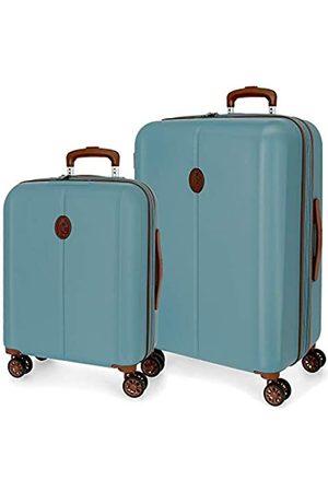 El Potro Ocuri Kofferset Blau 55/70 cms Hartschalen ABS TSA-Schloss 118L 4 Doppelräder Handgepäck