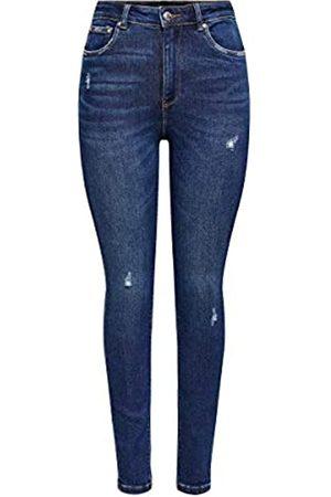 ONLY Female Skinny Fit Jeans ONLMila Life HW Ankle 2932Dark Blue Denim