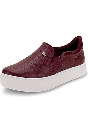 VIA MARTE Damen-Sneaker, Plateau, gepolsterte Innensohle, bequem, Tierdruck, Burgunderrot, (wein)