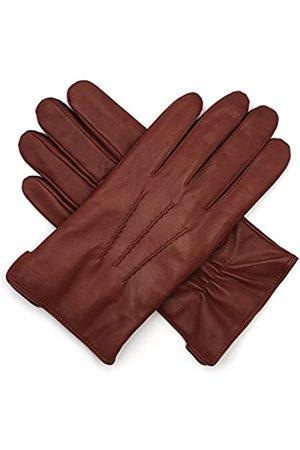 Harssidanzar Luxuriöse Herren-Handschuhe aus italienischem Schafsleder, Vintage-Look