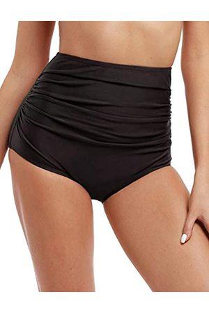 Firpearl Damen-Bikinihose mit hoher Taille, gerüscht