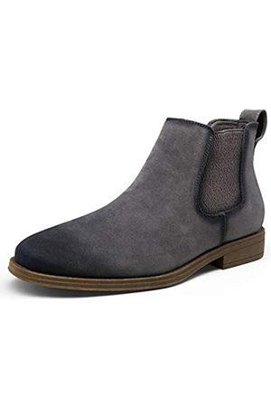 JOUSEN Herren Chelsea Boots Casual Wildleder Elastische Stiefeletten Einfacher Stil Kleid Stiefel für Männer, (Chelsea-Boots-amy658a- )