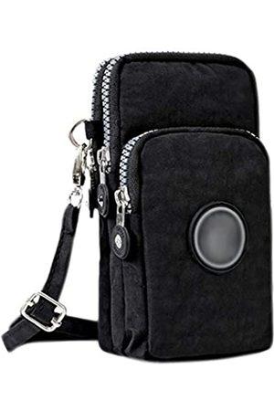 Amamcy Kxgj 3 Schichten Crossbody Handgelenk Schultertasche Lagerung Geldbörse Wasserdichte Nylon Riemen Handy Tasche für iphone - AMbb-000101Z-04