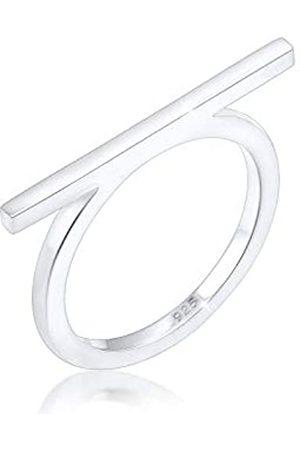 Elli Ring Damen Geo Minimal Blogger Trend Edgy in 925 Sterling